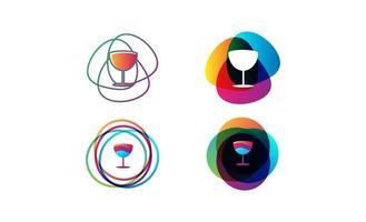 glas bar logotyp mall vektorillustration vektor