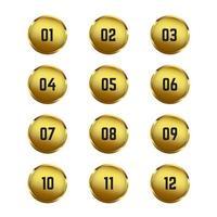 Goldkreis Aufzählungszeichen vektor