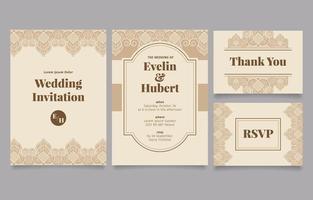 Hochzeitsentwurfsset mit dekorativen Ornamenten vektor