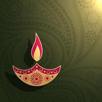 kreatives Diwali-Design vektor