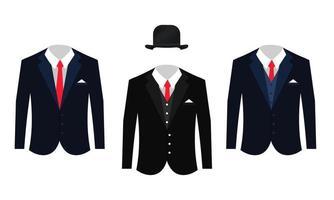 Set von verschiedenen Business-Anzügen Kleidung vektor