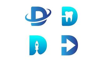 första d-logotypen designmallvektor vektor