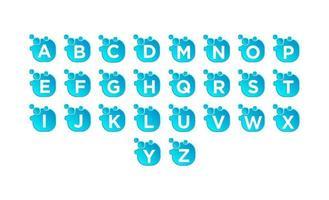 Anfangs-Az-Blase-Logo-Set-Design-Vektor vektor