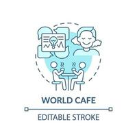 Weltcafé blaue Konzeptsymbol