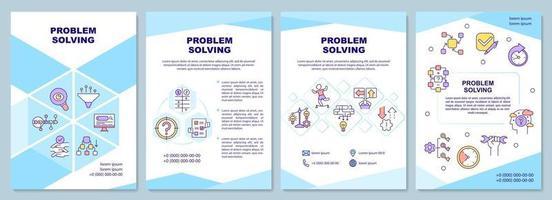 Problemlösung Broschürenvorlage vektor
