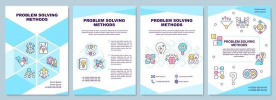 Problemlösungsmethode Broschürenvorlage vektor
