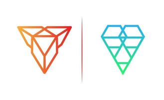 Diamant Steinschmuck Logo Vorlage Vektor-Illustration vektor