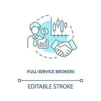 full-service mäklare koncept ikon