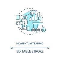 Momentum Trading Konzept Symbol vektor