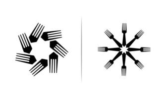 Gabel Logo Icon Design Vektor Illustration
