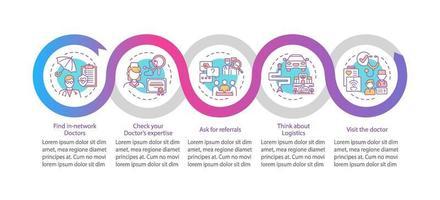 välj allmänläkare tips vektor infographic mall