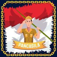 Pancasila patriotischer Soldat vektor