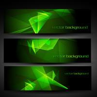 Vektor grüne abstrakte Banner