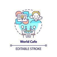 världskafé koncept ikon