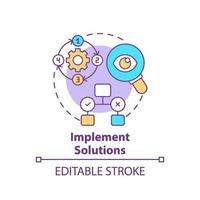 implementera lösningar koncept ikon