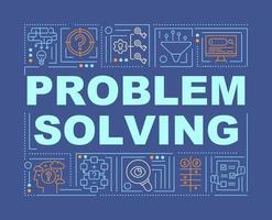 problemlösning metoder word begrepp banner vektor