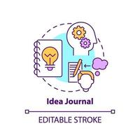idéjournalkonceptikonen vektor