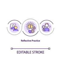 Symbol für das reflektierende Übungskonzept