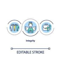 integritet koncept ikon
