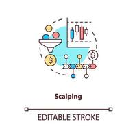 scalping koncept ikon