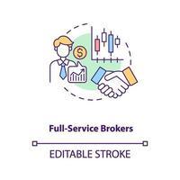 Full-Service-Broker-Konzeptsymbol