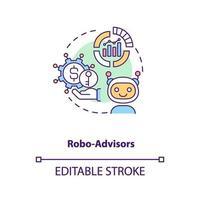 robo-rådgivare konceptikon vektor