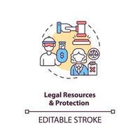 juridiska resurser och skydd koncept ikon