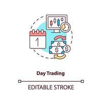 dag handel koncept ikon