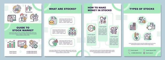 guide till broschyrmallen för aktiemarknaden vektor