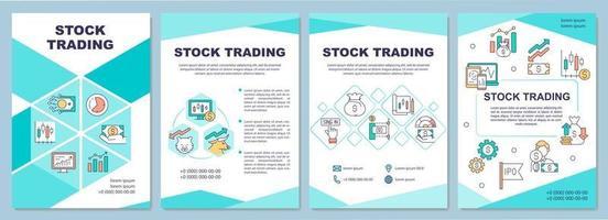 broschyrmall för aktiehandel vektor