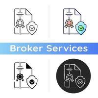 Makler-Symbol für geistiges Eigentum vektor