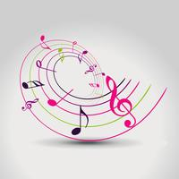 Vektor-Musiknote vektor