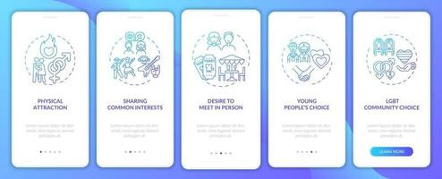 önskan att träffas personligt ombord på mobilappsskärmen med koncept. vektor