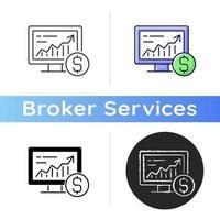 Online-Aktienhandelssymbol vektor
