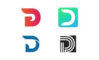 anfängliche d Logo Inspiration Design Vektor Vorlage