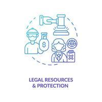 juridiska resurser och skydd koncept ikon vektor