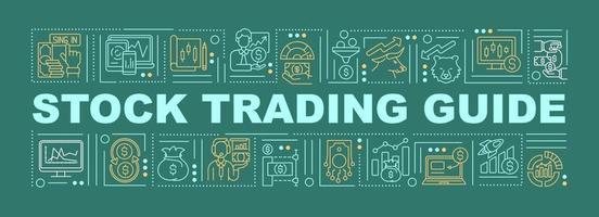 aktiehandel guide ord begrepp banner