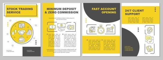 broschyrmall för aktiehandelstjänster vektor