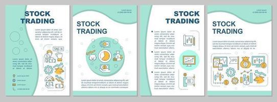 Vorlage für Aktienhandelsbroschüren vektor