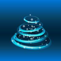kreativer Gruß der frohen Weihnachten vektor