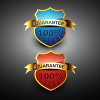 100-prozentiges Garantie-Symbol vektor