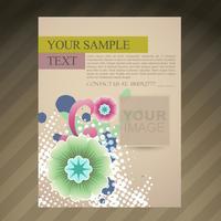 abstrakt broschyr flygblad design vektor