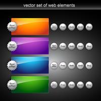 glänzende Webelemente vektor