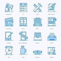 Bürozubehör und Schreibwaren-Ikonen vektor