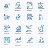 Symbole für Medizin, Krankheit und Diagnose vektor