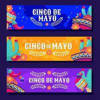 cinco de mayo Festival Banner vektor