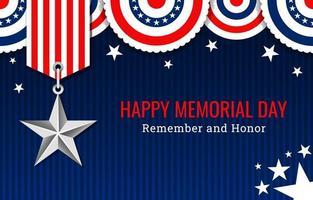 USA Memorial Day Hintergrund vektor