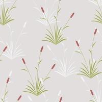 Vektor nahtloses Muster mit Reedmace oder Typha Latifolia