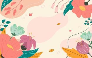 Frühlingsblumenhintergrund vektor