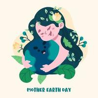 Mutter Erde Tag Hintergrund vektor